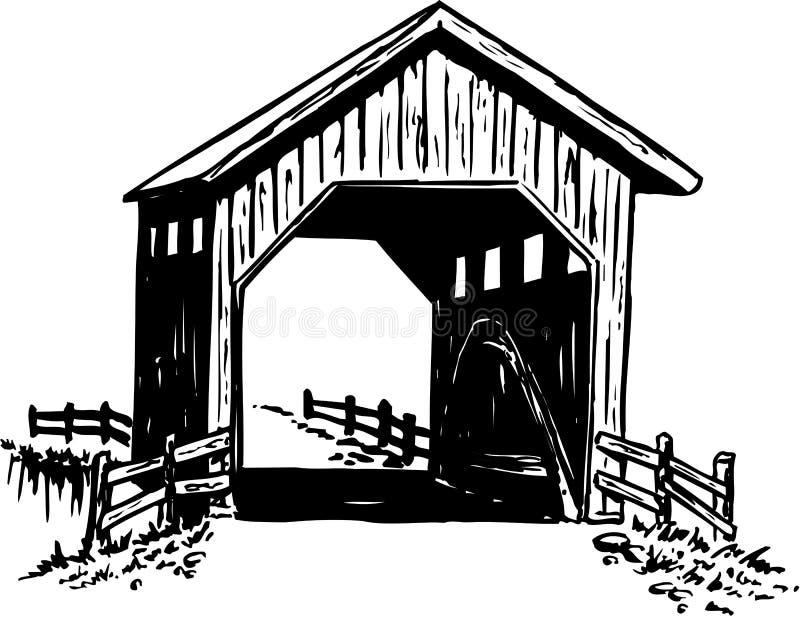 Illustrazione del ponte coperto royalty illustrazione gratis