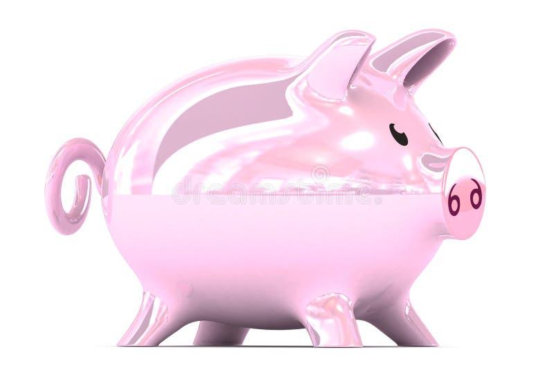 Illustrazione del porcellino salvadanaio fotografia stock