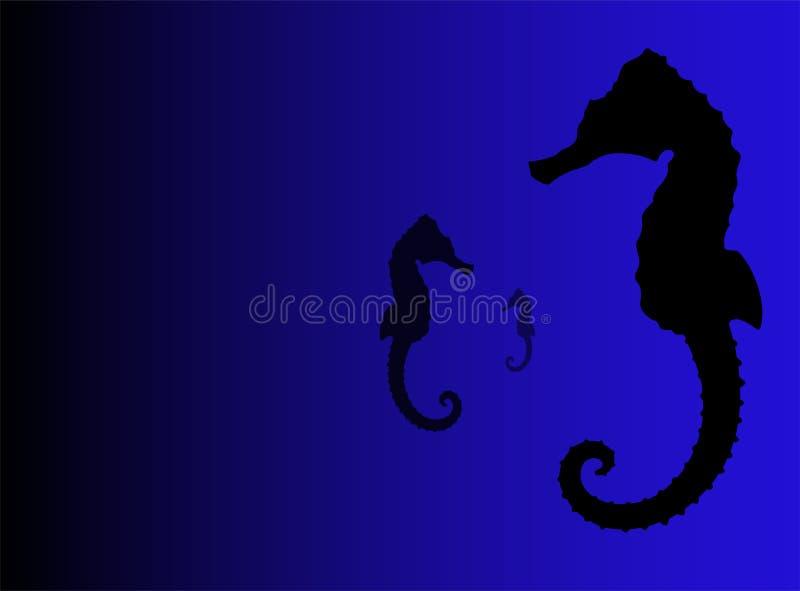 Illustrazione del Seahorse royalty illustrazione gratis