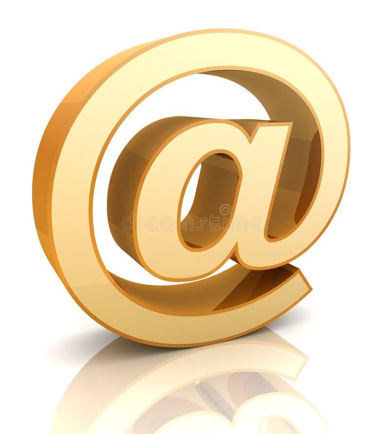 Illustrazione del segno 3d del email isolata illustrazione vettoriale