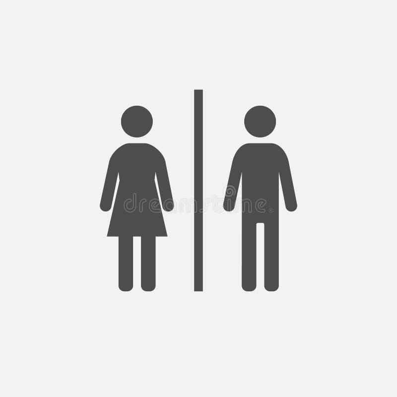 Illustrazione del segno della porta del bagno royalty illustrazione gratis