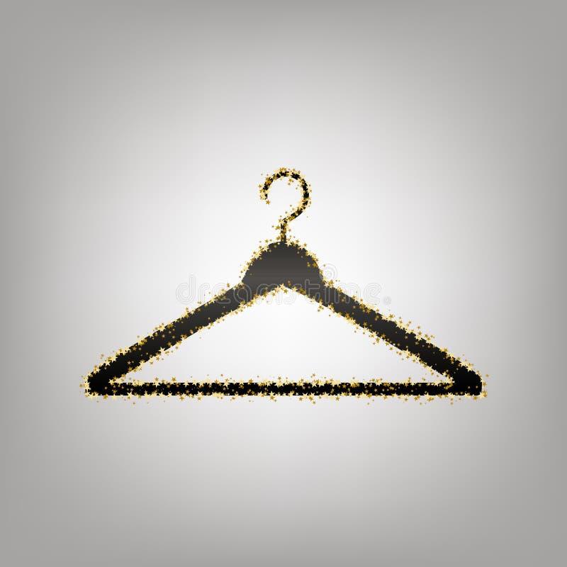 Illustrazione del segno del gancio Vettore Icona nerastra con la stella dorata illustrazione di stock
