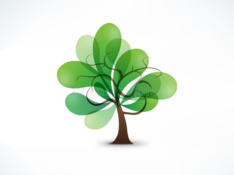 Segno astratto dell'albero fotografia stock