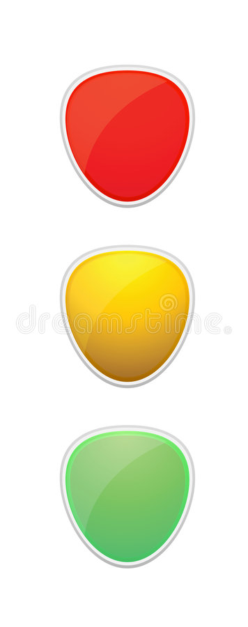 Illustrazione del semaforo fotografia stock