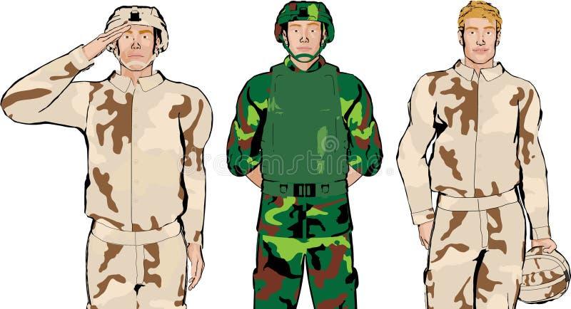 Illustrazione del soldato royalty illustrazione gratis