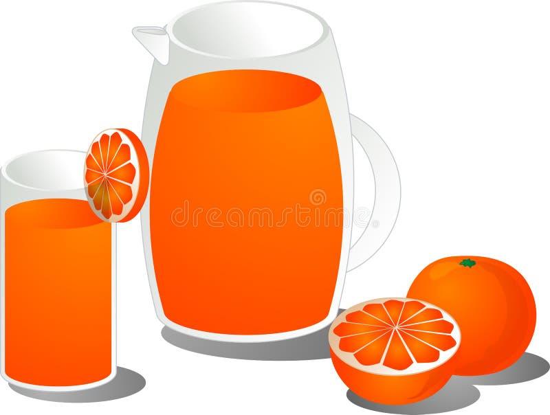 Illustrazione del succo di arancia royalty illustrazione gratis