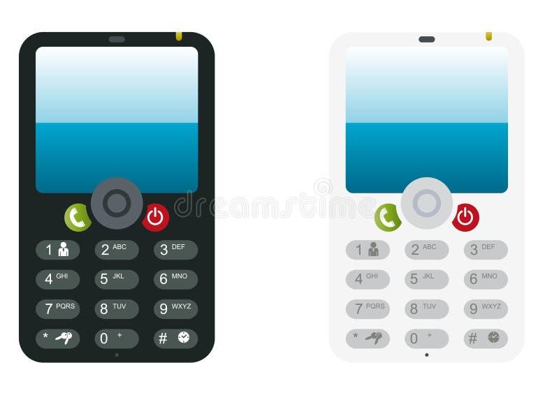 Illustrazione del telefono delle cellule di PDA royalty illustrazione gratis