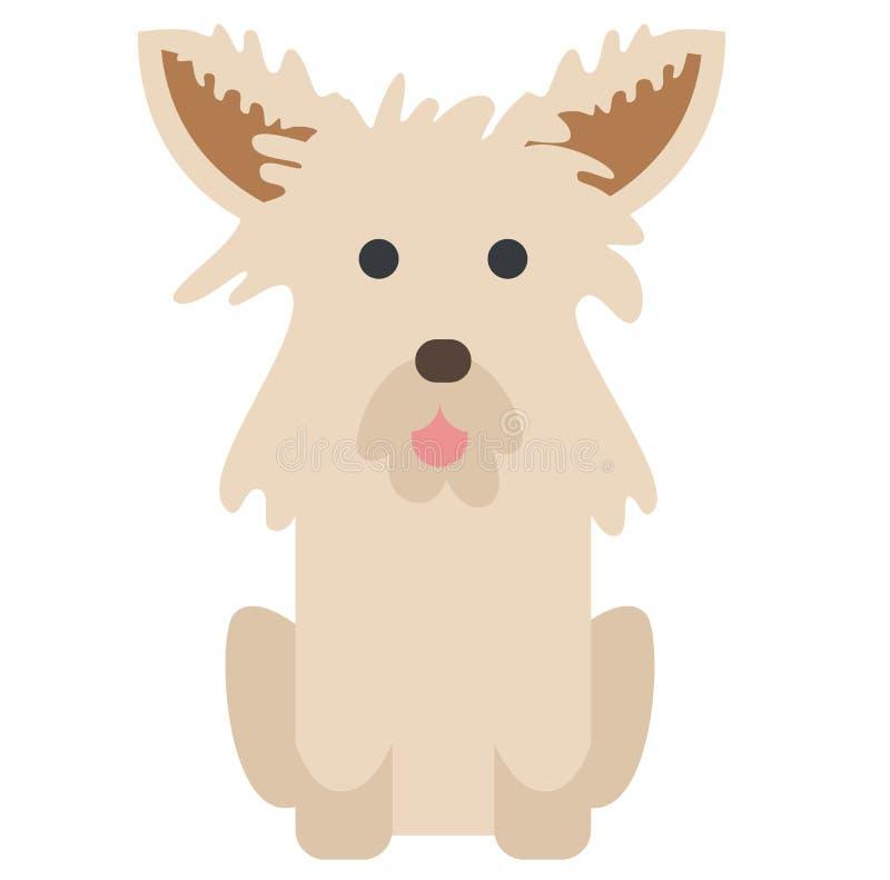 Illustrazione del terrier di cairn su fondo bianco illustrazione di stock