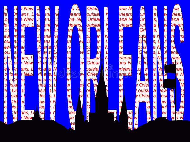 Illustrazione del testo di New Orleans illustrazione vettoriale