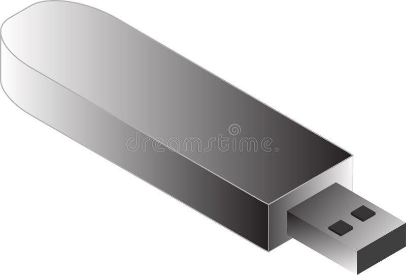 Illustrazione del USB Pendrive illustrazione vettoriale