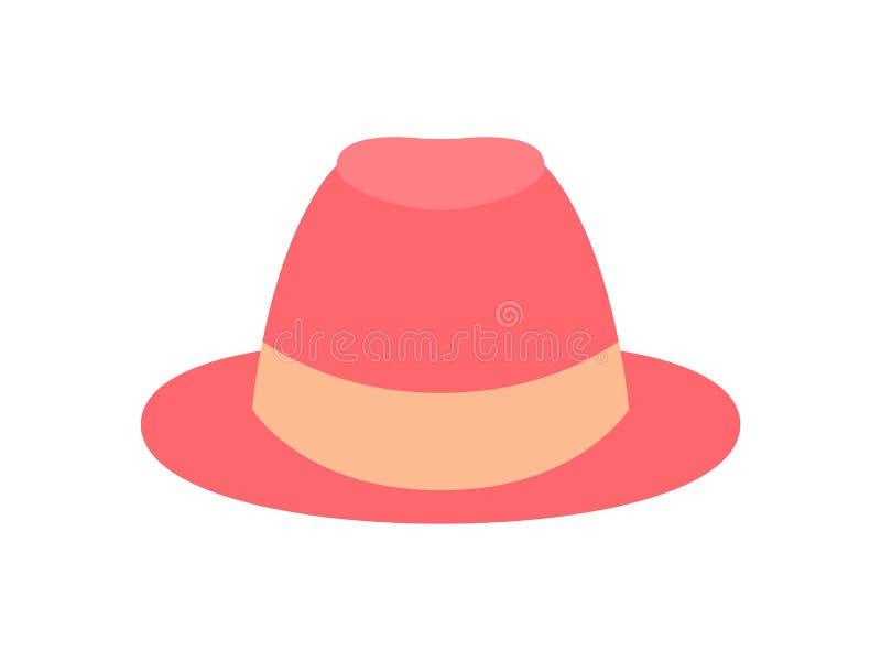 Illustrazione del vettore isolata cappello delle donne graziose illustrazione di stock