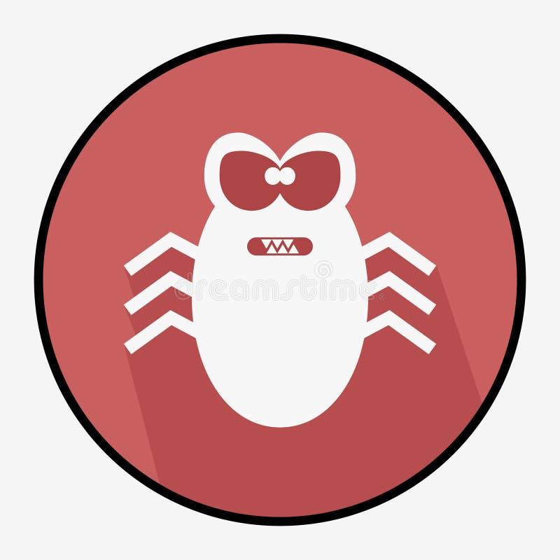 Illustrazione del virus informatico fotografie stock