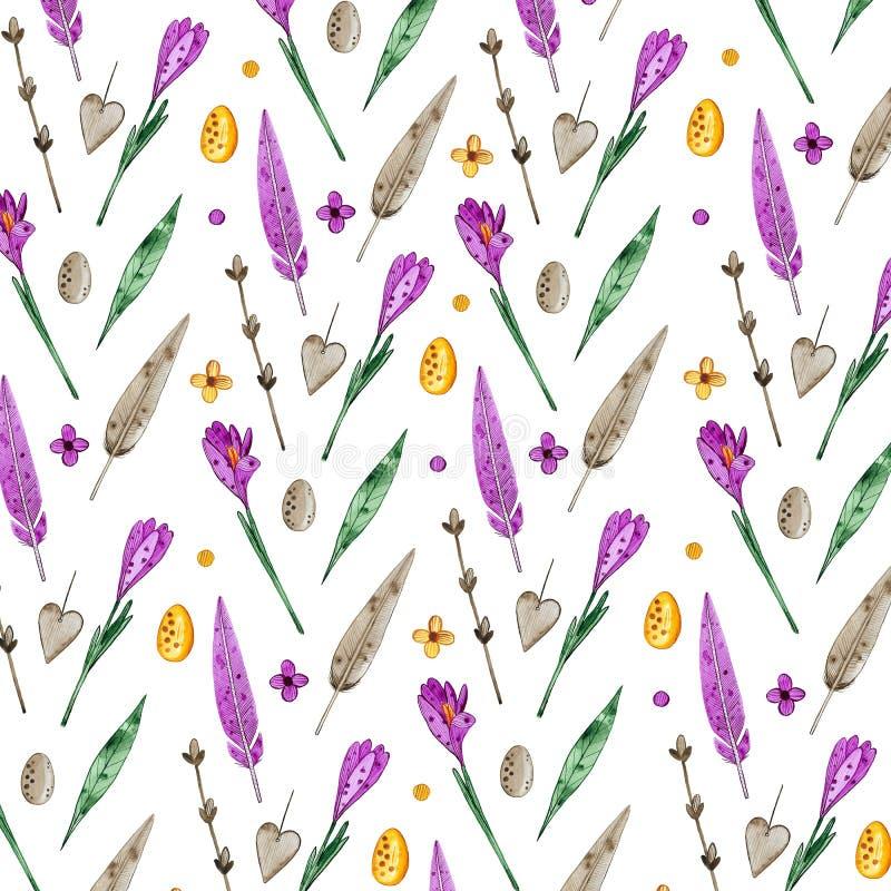 Illustrazione dell'acquerello degli elementi di Pasqua royalty illustrazione gratis