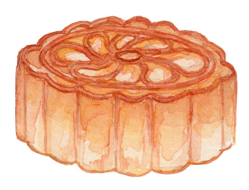 Illustrazione dell'acquerello del pane inzuppato in latte/uova e zucchero e fritto in padella fotografia stock libera da diritti
