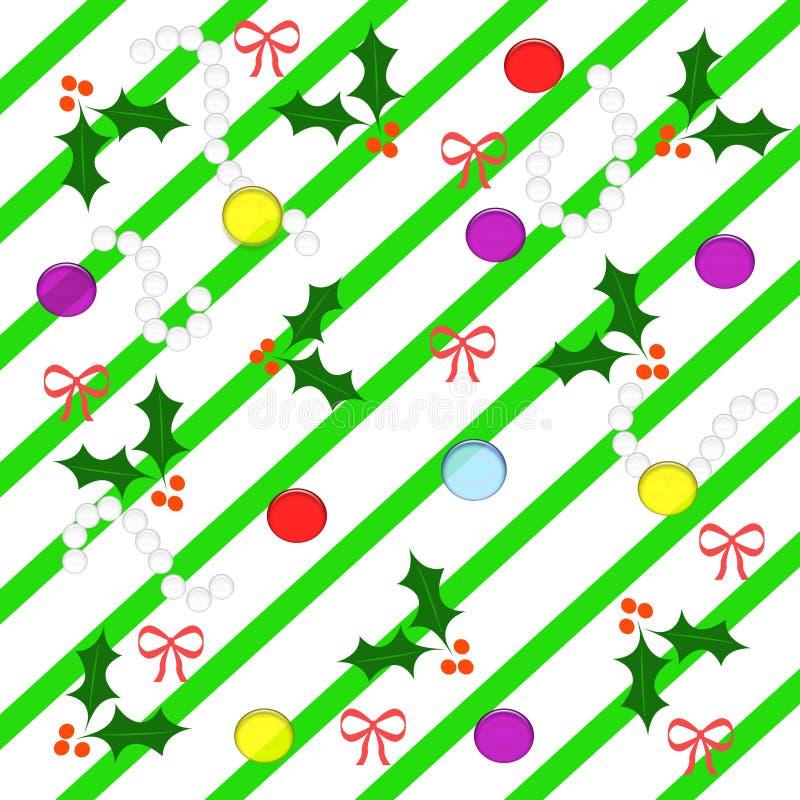 Illustrazione dell'agrifoglio di Natale illustrazione vettoriale