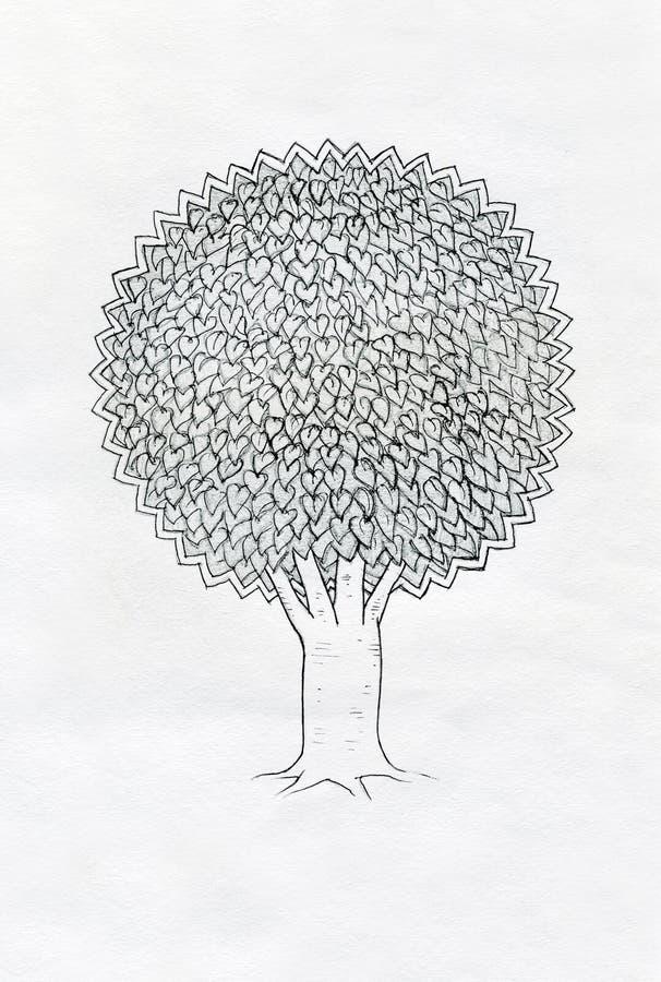 Illustrazione dell'albero. royalty illustrazione gratis