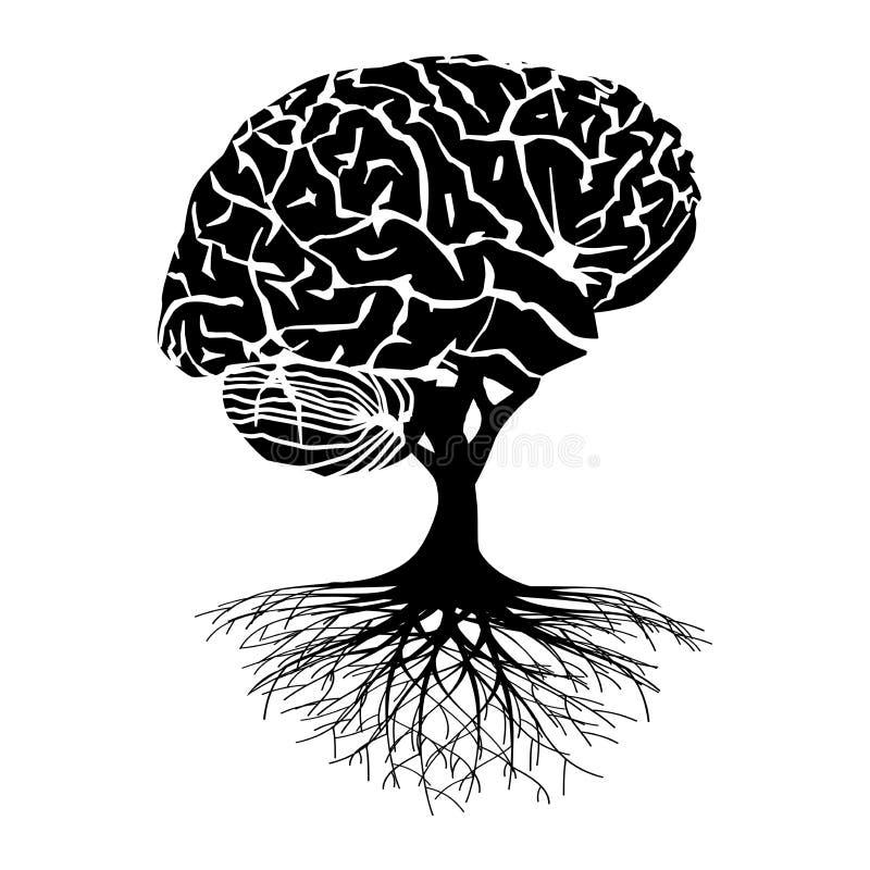 Illustrazione dell'albero del cervello illustrazione vettoriale