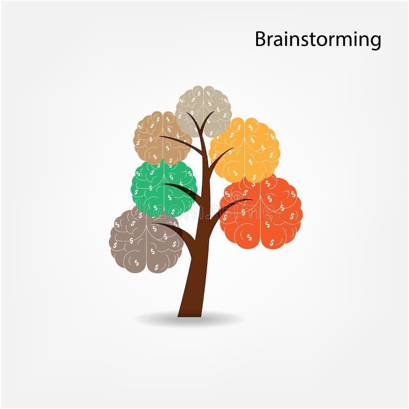 Illustrazione dell'albero del cervello, albero di conoscenza, medica illustrazione vettoriale