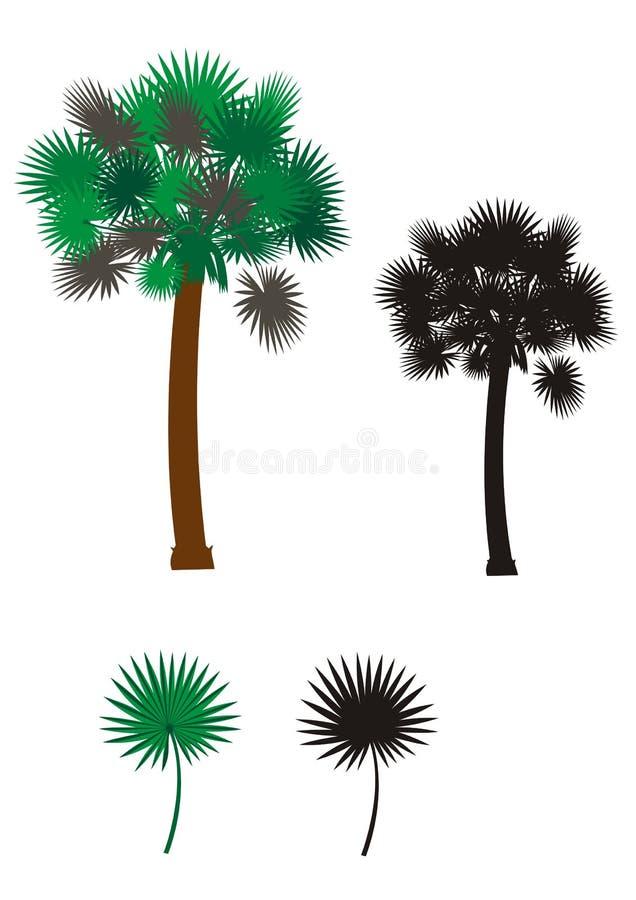 Illustrazione dell'albero del Palmetto immagini stock