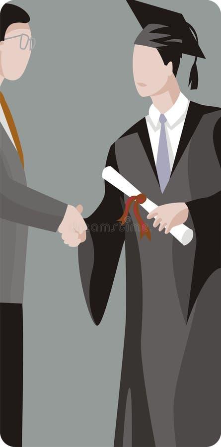 Illustrazione dell'allievo graduato illustrazione di stock