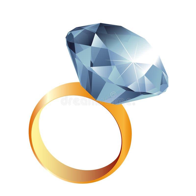 Illustrazione dell'anello di diamante royalty illustrazione gratis