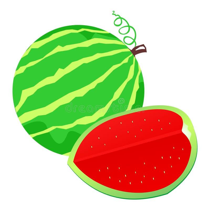Download Illustrazione dell'anguria illustrazione vettoriale. Illustrazione di isolato - 7311324