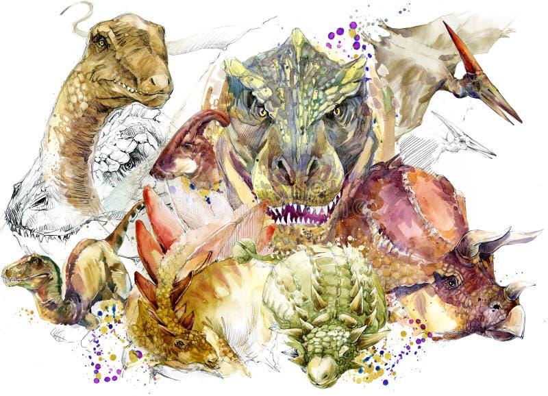 Illustrazione dell'animale del dinosauro royalty illustrazione gratis