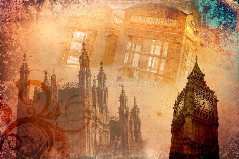 Illustrazione dell'annata di arte di Londra illustrazione vettoriale