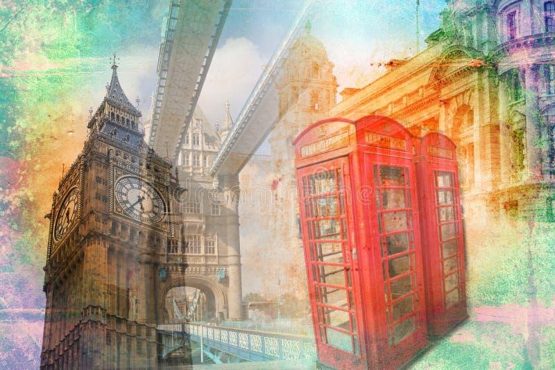 Illustrazione dell'annata di arte di Londra royalty illustrazione gratis