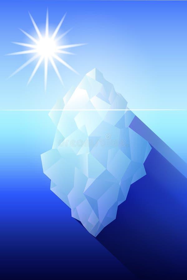 Illustrazione dell'Antartide dell'iceberg illustrazione di stock