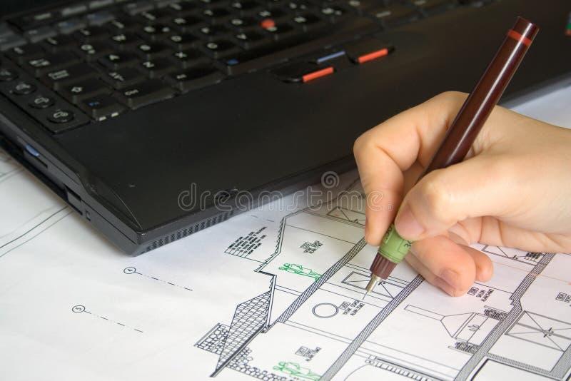 Illustrazione dell'architetto immagini stock