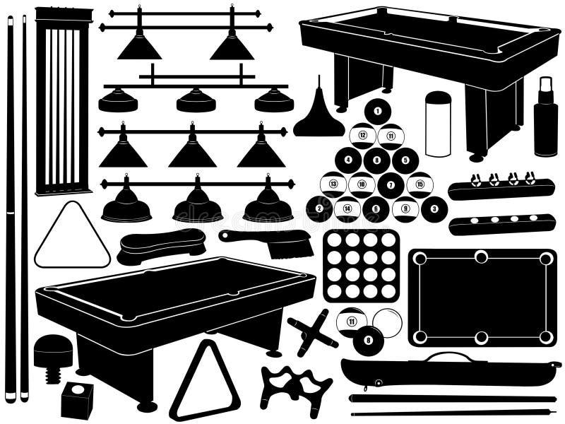 Illustrazione dell'attrezzatura dello stagno illustrazione di stock
