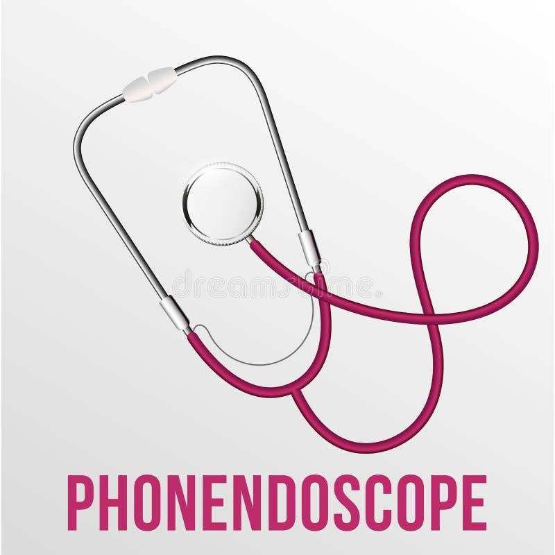 Illustrazione dell'attrezzatura medica da vettore isolata stetoscopio realistico illustrazione vettoriale