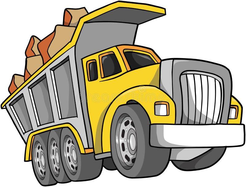 Illustrazione dell'autocarro con cassone ribaltabile royalty illustrazione gratis