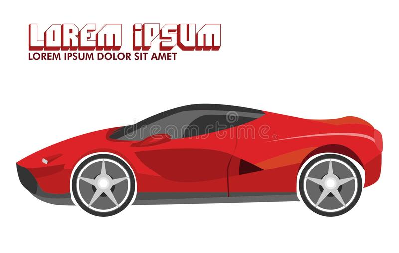 Illustrazione dell'automobile sportiva rossa royalty illustrazione gratis