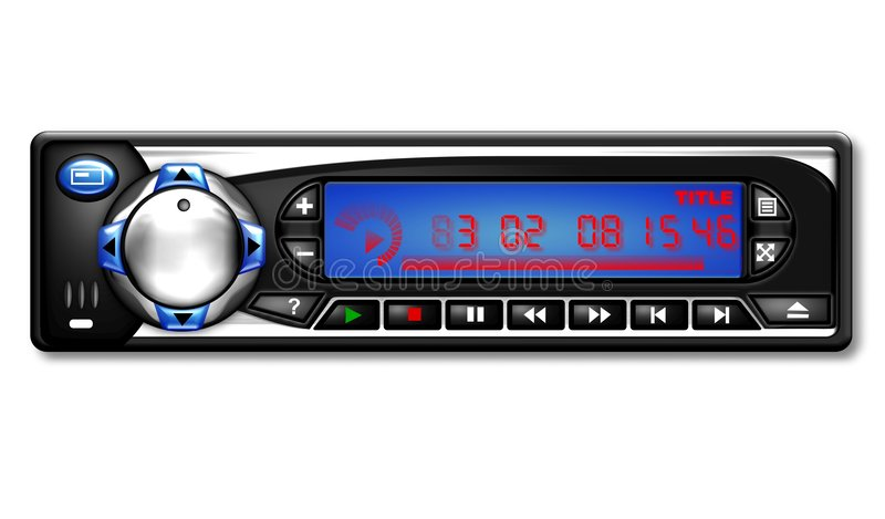 Illustrazione dell'autoradio   royalty illustrazione gratis