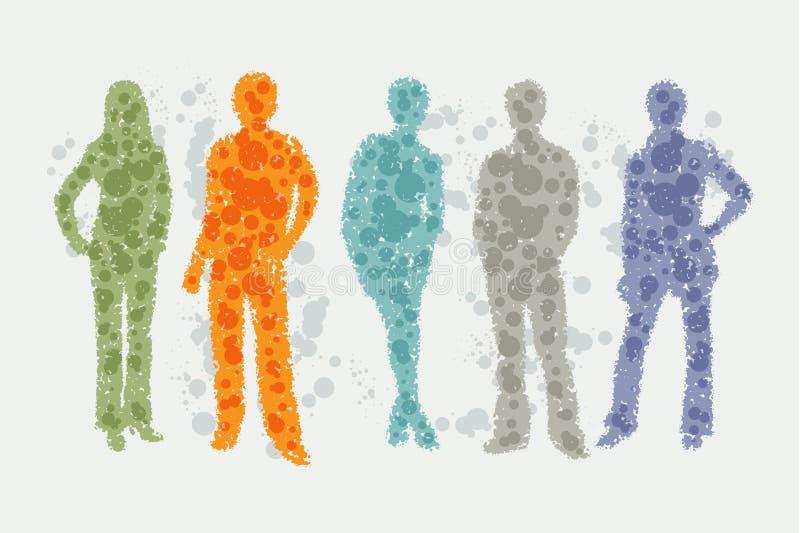 Illustrazione dell'avatar - siluette della gente royalty illustrazione gratis