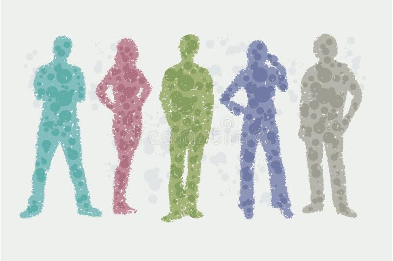 Illustrazione dell'avatar - siluette della gente illustrazione vettoriale