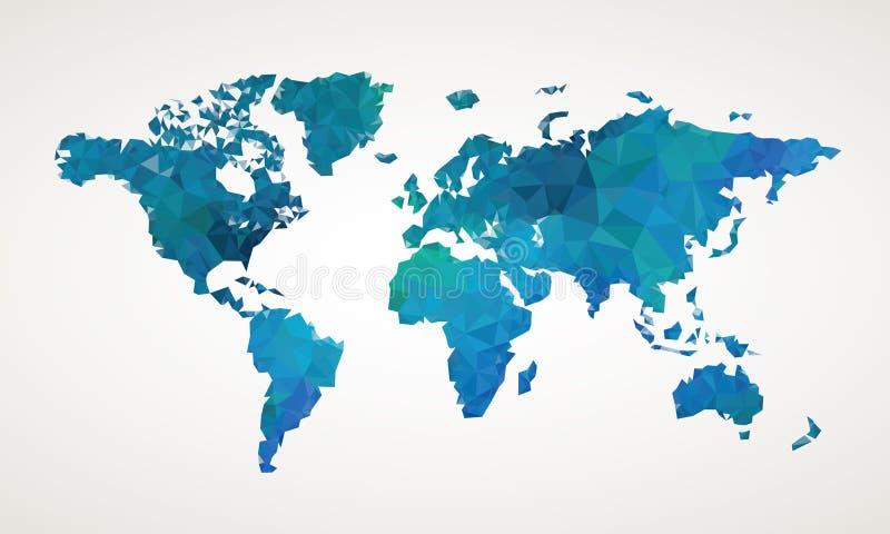 Illustrazione dell'estratto di vettore della mappa di mondo illustrazione di stock