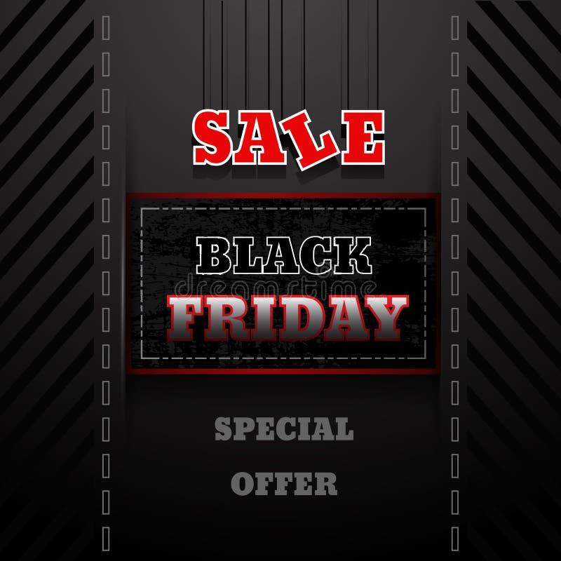 Illustrazione dell'etichetta ENV 10 di vendite di Black Friday royalty illustrazione gratis