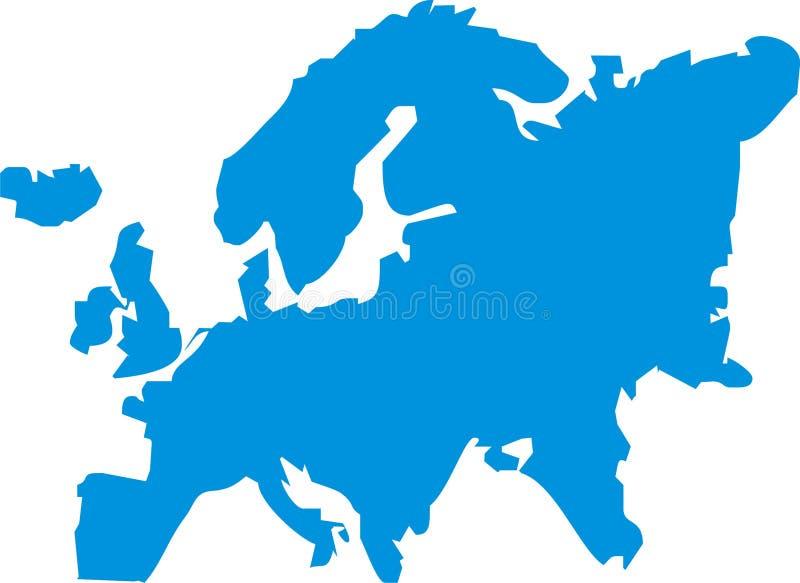 Illustrazione dell'Europa illustrazione vettoriale