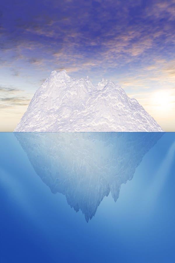 Illustrazione dell'iceberg illustrazione vettoriale