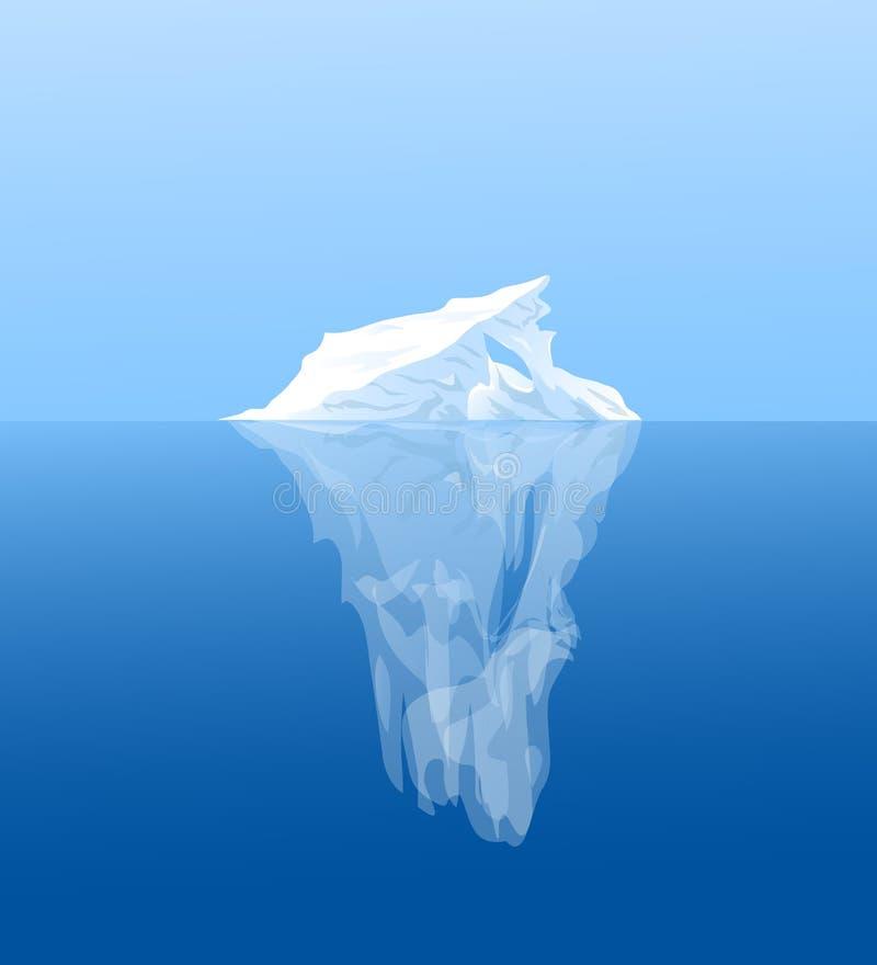 Illustrazione dell'iceberg royalty illustrazione gratis