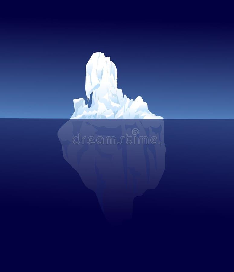 Illustrazione dell'iceberg illustrazione di stock