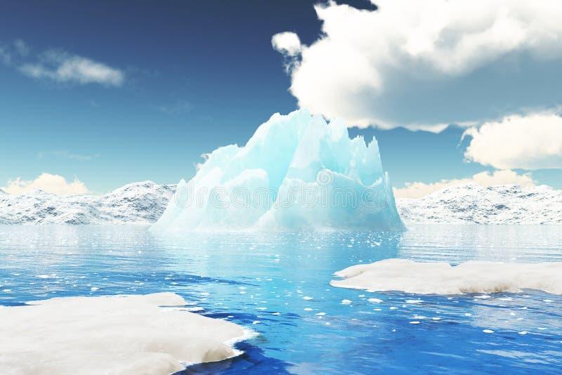 Illustrazione dell'iceberg in 3D illustrazione vettoriale