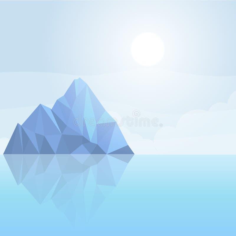 Illustrazione dell'iceberg, modello di vettore illustrazione di stock