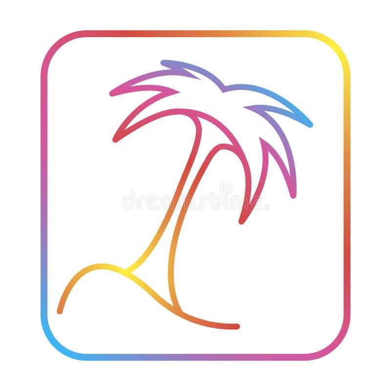 Illustrazione dell'icona del modello di logo di estate del cocco illustrazione vettoriale