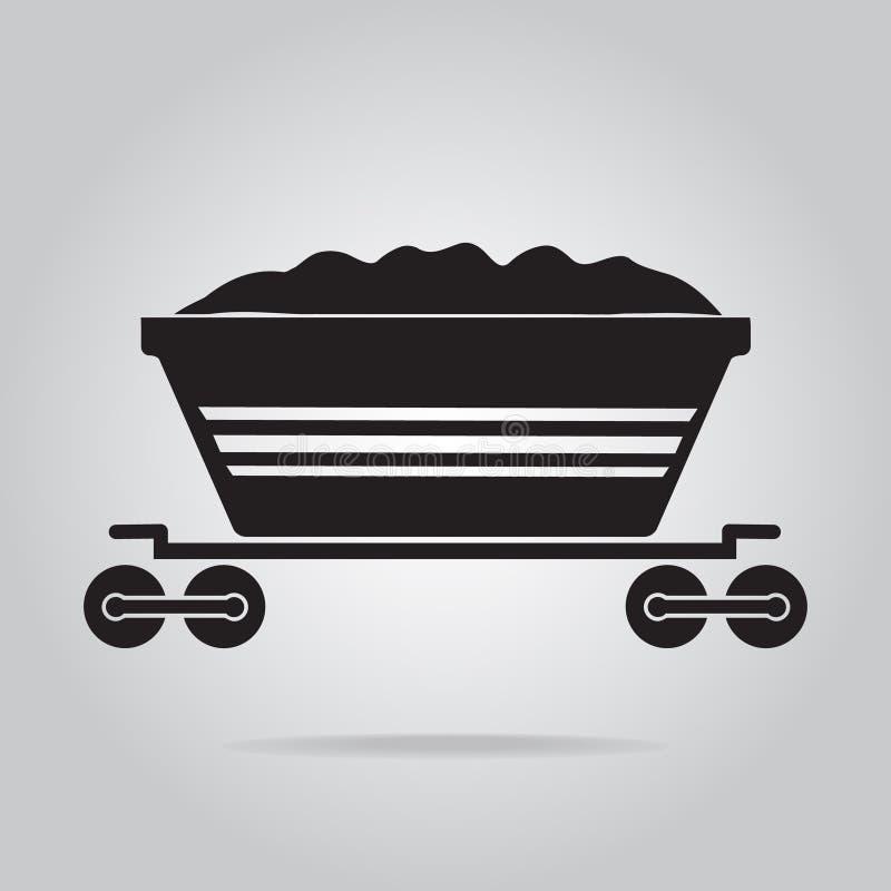 Illustrazione dell'icona del treno del carbone illustrazione di stock