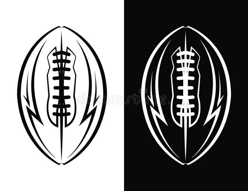 Illustrazione dell'icona dell'emblema di football americano illustrazione di stock
