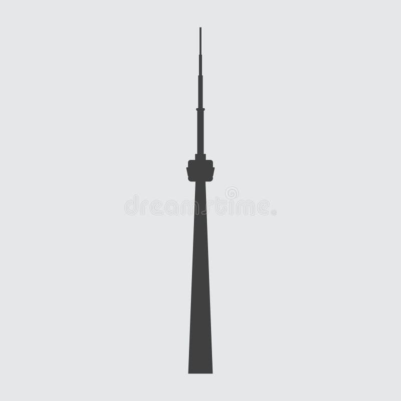 Illustrazione dell'icona della torre del CN illustrazione vettoriale